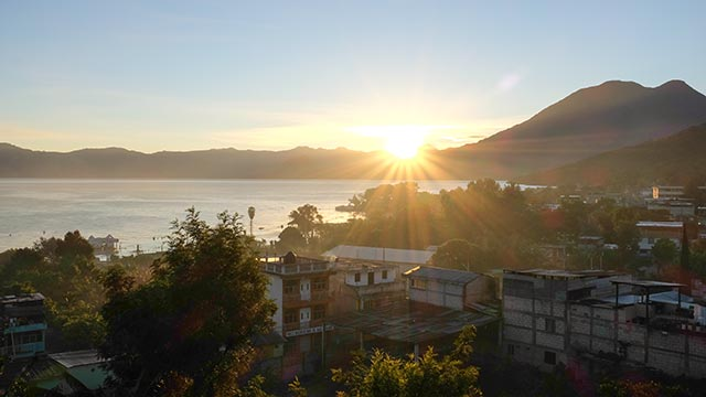 Sunrise over San Pedro La Laguna
