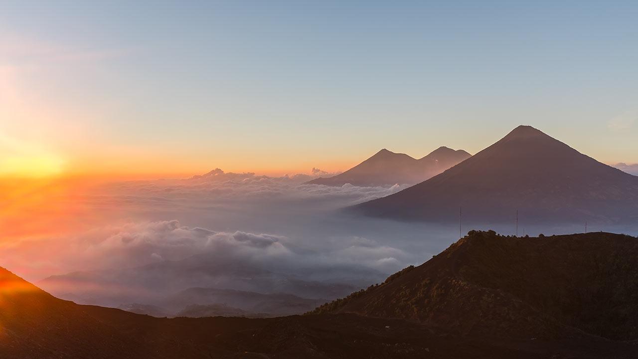 Sunset over the Volcano Pacaya, Guatemala