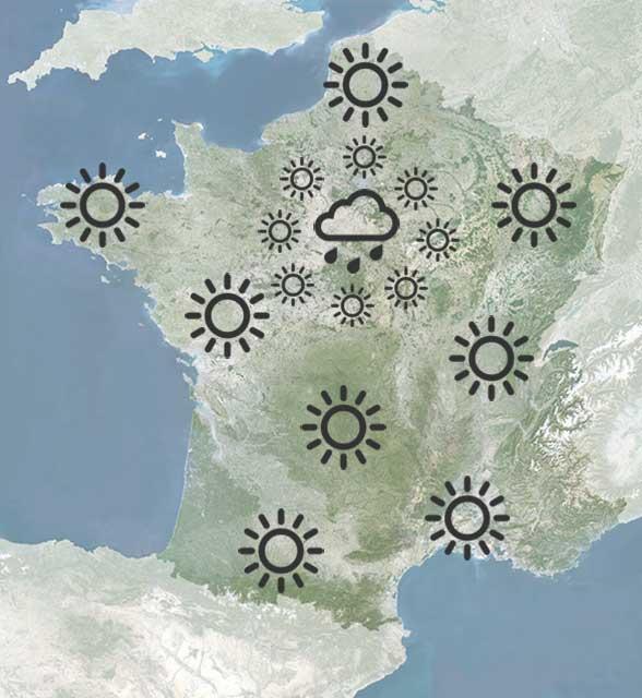 French weather forecase as I imagined it