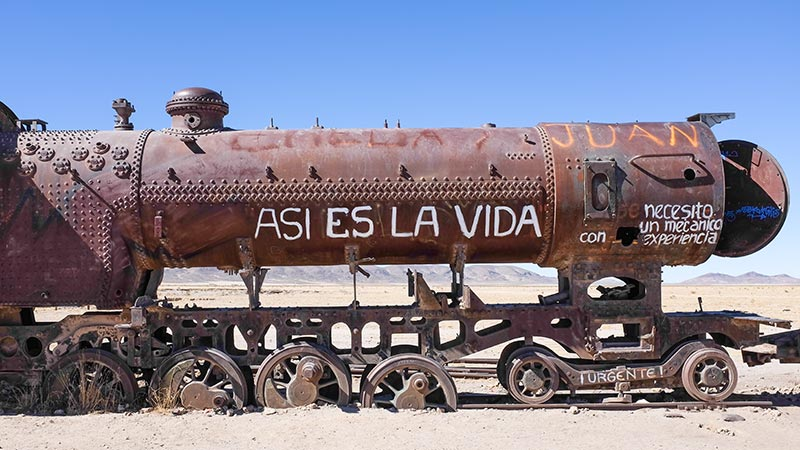 Abandoned train, Salar de Uyuni, Bolivia