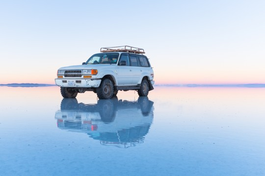 Jeep, Salar of Uyuni, Bolivia