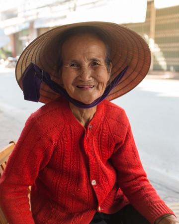Old lady, Da Nang, Vietnam