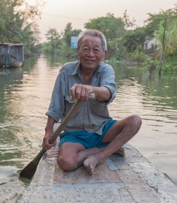 Old man, Vinh Long, Vietnam