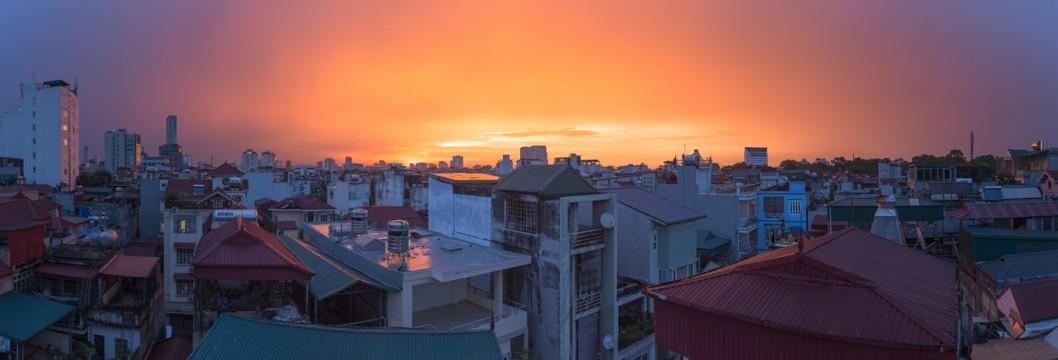Sunset, Hanoi, Vietnam