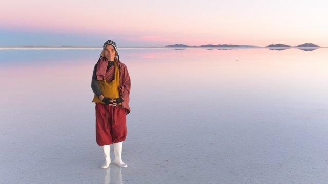 Taiwanese Monk, Salar of Uyuni, Bolivia